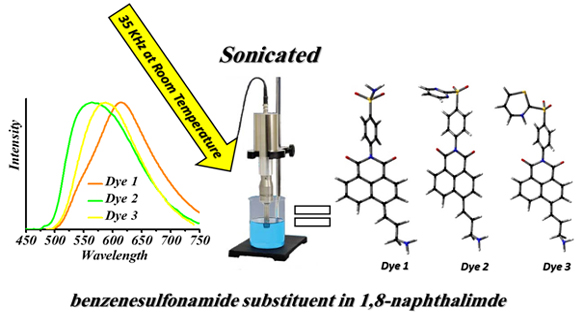 Synthesis and Photophysical Properties of the New Dyes Contained Benzenesulfonamide and 1,8-Naphthalimide
